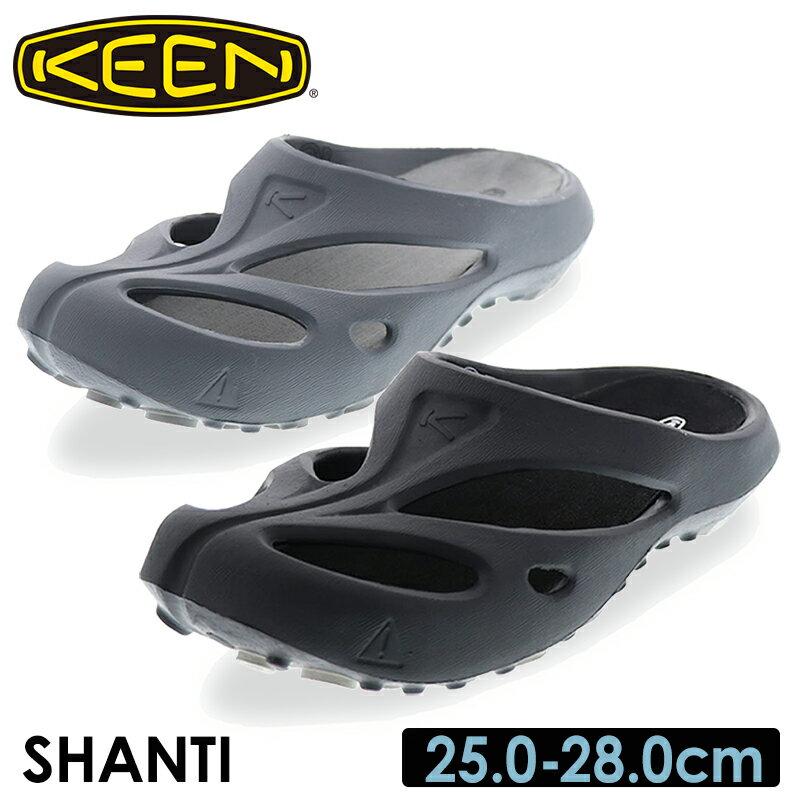 KEEN キーン メンズ カジュアルサンダル SHANTI グレー ブラック