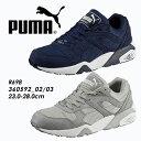 PUMA【プーマ】R698メンズ レディース スニーカー グレー ネイビー【R698】