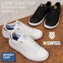 K-SWISS ケースイス レディース スニーカー メタリック Clean Court CMF クリーンコ-トコンフォート 白スニーカー ホワイト ブラック 白 C COURT CMF