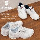 K-SWISS ケースイス メンズ レディース スニーカー ローカット ユニセックスKSL02 ホワイト/トリコ ホワイト 復刻 白スニーカー