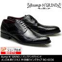 Bump N' GRIND バンプアンドグラインド メンズ MENS 本革 ビジネスシューズ ビジネス ロングノーズ 靴 くつ シューズ 革靴 ウイングチップ 紳士靴 黒 ブラック BG-6036 【送料無料】【あす楽】
