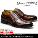 Bump N' GRIND バンプアンドグラインド メンズ MENS 本革 ビジネスシューズ ビジネス ロングノーズ 靴 くつ シューズ 革靴 ウイングチップ 紳士靴 茶 キャメル BG-6036 【送料無料】【あす楽】
