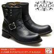 RAUDi ラウディ メンズ MENS 本革 カジュアル シューズ 革靴 革 靴 くつ オイルレザー エンジニアブーツ ブラック 黒 R-61210 【送料無料】