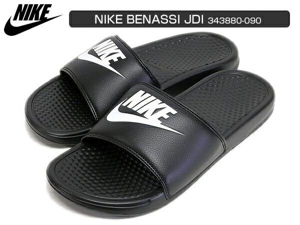 NIKE BENASSI JDI ナイキ ベナッシ ブラック/ホワイト 黒/白343880-090 サンダルレディース メンズ