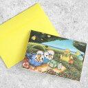 hummingpippi(ハミングピッピ) hummingpippi Card/ハミッピカード (封筒付き二つ折りメッセージカード) セキセイインコ/イエロー