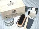 小さな輝きを大切にするシューケアセットCOLUMBUS コロンブスBoot Black SILVER LINEシューケアキット2(桐製木箱入り)靴 シューズ