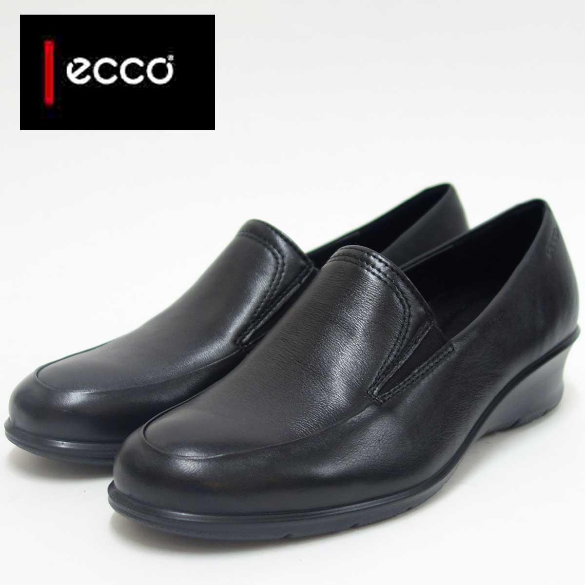 『ECCO エコー』217053 ブラック(レディース)上質レザースリッポンシューズお洒落カジュアル&ウォーキング天然皮革コンフォートシューズ『靴』 エコーの靴は足の快適さと健康を追求します ☆送料無料・代引手数料無料☆