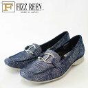 『FIZZ REEN フィズリーン』9801 ネイビー(レディース)快適フィットのスリッポンシューズソフトな天然皮革で優しくフィット『靴』