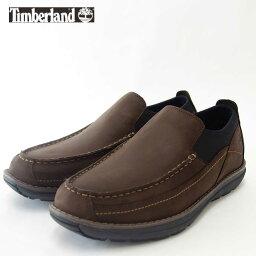 Timberland(ティンバーランド) バレット パーク A16QM モック トゥ スリップオン カラー:ダークブラウンヌバック(メンズ)『靴』