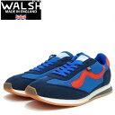 ショッピングランニング WALSH ウォルシュ FRC 71014(ユニセックス) Fierce カラー:ブルー/レッド(英国製) ポリエステル&ヴェロン&PVCのランニング スニーカー 「靴」