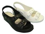 疲れないナースシューズオフィス サンダル としても好評♪ピュアウォーカーPW7611 白/黒 22.0cm-25.0cm (オフィスサンダル/ナースサンダル/疲れにくい 靴)