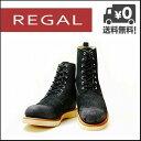 リーガル 靴 ブーツ スエード レースアップ リーガルスタンダーズ ビブラム REGAL 61AR AL ブラック【バーゲン】