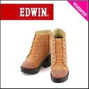 EDWIN(エドウィン) レディース レースアップショートブーツ 2247 オレンジ【レディースバーゲン】
