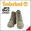 ティンバーランド メンズ 6インチ ファブリック ブーツ 防水 雨 雪 靴 カジュアル アウトドア Timberland 6inch FABRIC BOOT A136J グリーン