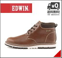 エドウィン メンズ ワークブーツ 防水 防滑 雨 雪 靴 カジュアル デイリー アウトドア リゾート EDWIN EDM-9805 ブラウン