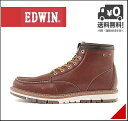 エドウィン メンズ ワークブーツ 防水 防滑 雨 雪 靴 カジュアル デイリー アウトドア リゾート EDWIN EDM-9807 ワイン