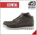 エドウィン メンズ ミッドカット スニーカー ブーツ 防水 防滑 雨 雪 靴 カジュアル デイリー アウトドア リゾート EDWIN EDM-9904 ブラック