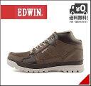 エドウィン メンズ ミッドカット スニーカー ブーツ 防水 防滑 雨 雪 靴 カジュアル デイリー アウトドア リゾート EDWIN EDM-9904 ダークブラウン