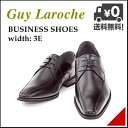 ビジネスシューズ メンズ スワローモカ ロングノーズ 3E 幅広 ギラロッシュ Guy Laroche 1331 ブラック
