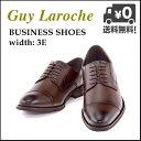 ビジネスシューズ メンズ ストレートチップ ロングノーズ 3E ギラロッシュ Guy Laroche GLL1421 ダークブラウン