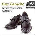 ビジネスシューズ メンズ モンクストラップ ロングノーズ 3E ギラロッシュ Guy Laroche GLL1422 ブラック【メンズバーゲン】