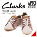 クラークス メンズ ローカット スニーカー レースアップ カジュアル シューズ メゴレース MEGO LACE Clarks 26107958 レッドコンビ
