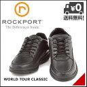 ロックポート メンズ ウォーキングシューズ スニーカー デイリー カジュアル ビジネス 3E 幅広 ワールドツアークラシック ROCKPORT WORLD TOUR CLASSIC K71185 ブラック
