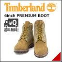 ティンバーランド メンズ 6インチ プレミアム ブーツ カジュアル アウトドア 防水 雨 雪 靴 6inch PREMIUM BOOT Timberland 9654B Medブラウン/タンヌバック