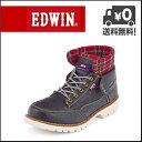 EDWIN(エドウィン) メンズ カジュアルブーツ EDM-8500 ブラック【メンズバーゲン】