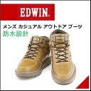エドウィン メンズ 防水 ミドル ブーツ アウトドア カジュアル 雨 雪 靴 EDWIN EDM-9500 キャメル