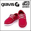 グラビス スニーカー メンズ GRAVIS SKIPPER(スキッパー) 12861100 600 レッド【メンズバーゲン】