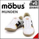 モーブス メンズ ローカット スニーカー ミュンデン mobus MUNDEN 000804 ホワイト/ブラック