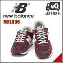 ニューバランス メンズ ランニングシューズ スニーカー 軽量 クッション性 D カジュアル デイリー トラベル MRL996 new balance 1009195 レッド