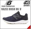 ニューバランス メンズ ランニングシューズ スニーカー バジー ラッシュ ML V ワンストラップ 軽量 クッション性 耐久性 D カジュアル デイリー トラベル ウォーキング スポーツ VAZEE RUSH ML V new balance 160600 ネイビー