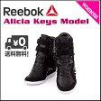 リーボック 【アリシア・キーズ】ウェッジ レディース スニーカー コラボ 限定 Reebok Alicia Keys WEDGE V60905 ブラック/ホワイト