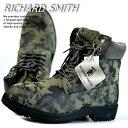 訳あり アウトレット ブーツ メンズ イエローブーツ ワークブーツ RICHARD SMITH 6インチ 4cm防水 靴 シューズ RS3159 カモフラージュ