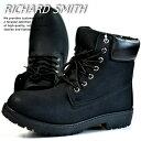 訳あり アウトレット ブーツ メンズ イエローブーツ ワークブーツ RICHARD SMITH 6インチ 4cm防水 靴 シューズ RS3159 ブラック 黒