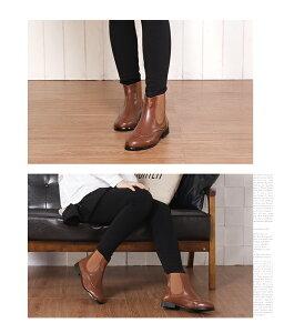 デザインサイドゴアショートブーツローヒール2cm3cmシンプルキャメル/ブラウン茶色/ブラック黒大きなサイズ3Lレディース靴★ab-99★