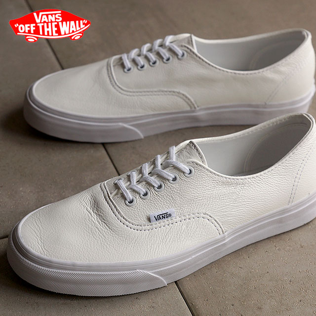 vans white leather authentic