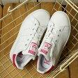【即納】アディダス オリジナルス スタンスミス コンフォート EL C adidas Originals キッズ ジュニア ベルクロ STAN SMITH EL C ランニングホワイト/ランニングホワイト/ボールドピンク (BA8377 FW16)
