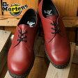 ドクターマーチン メンズ レディース ブーツ チャッカブーツ Dr.Martens CAVENDISH 3-EYE SHOE キャベンディッシュ 3ホール CHERRY RED (21859600)【コンビニ受取対応商品】