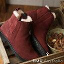 【在庫限り】エミュー EMU メリノウールライニング サイドゴアブーツ 防水レザー パイオニア Pioneer レディース 靴 Red Wine (W11292 FW18)【ts】【コンビニ受取対応商品】