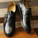 【即納】トップセブン TOP SEVEN TS-5517 モンクストラップ レザー ラグジュアリー スニーカー BLACK メンズ 靴 (FW18)【コンビニ受取対応商品】