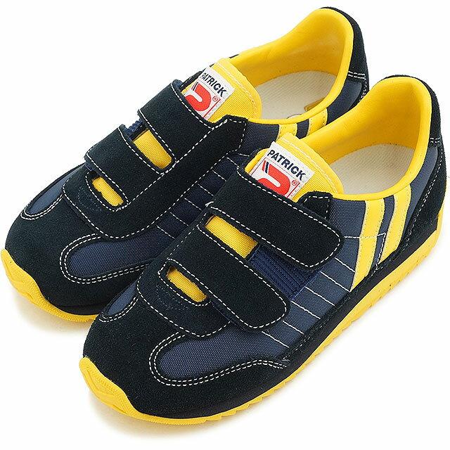 【即納】パトリック スニーカー PATRICK インファント 靴 MARATHON-V キッズ マラソン・ベルクロ NVY EN7702 SS15 日本製 sneaker【コンビニ受取対応商品】