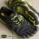 【即納】Vibram FiveFingers ビブラムファイブフィンガーズ メンズ V-Run Black/Yellow ビブラム ファイブフィンガーズ 5本指シューズ ベアフット靴 (16M3101)