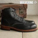 ウルヴァリン エヴァンス ワークブーツ WOLVERINE ウルバリン メンズ EVANS BLACK (W40048)【コンビニ受取対応商品】