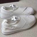 【即納】adidas Originals アディダス オリジナルス Superstar Slip On W レディース スーパースター スリッポン Rホワイト/Rホワイト/Cブラック (S81338 SS17)【コンビニ受取対応商品】
