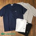 【即納】LACOSTE ラコステ メンズ Tシャツ POCKET TEE ポケット Tシャツ ホワイト ブラック ネイビー グレー (TH633EL SS18)【コンビニ受取対応商品】