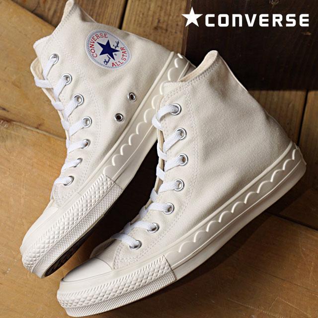 【在庫限り】CONVERSE コンバース レディース オールスター スカラップテープ ハイカット スニーカー 靴 ALL STAR SCALLOPTAPE HI ホワイト (32995030 FW18)【ts】【コンビニ受取対応商品】