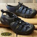 【ショップポイント10倍!1/31まで】(15周年モデル)キーン KEEN メンズ ニューポート ハイドロ MEN NEWPORT HYDRO ウォーターシューズ スポーツサンダル 靴 Dress Blues/Steel Grey (1018940 FW18)【e】